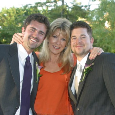 Spencer, Mom, and Casey - the groom.