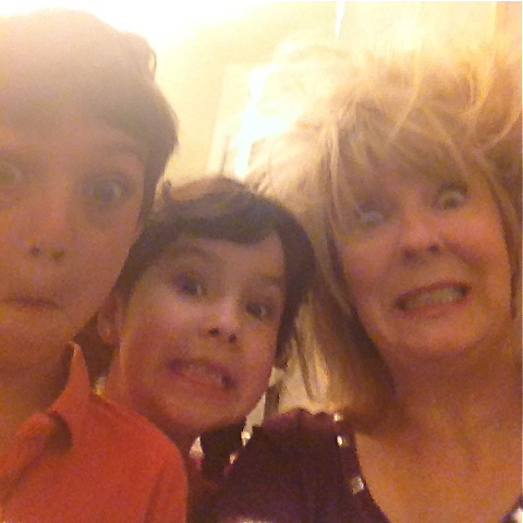 Aiden, Kailyn and Grammy